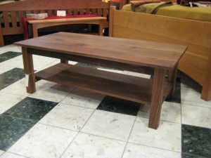 "Solid Walnut ""Mission"" Coffee Table"