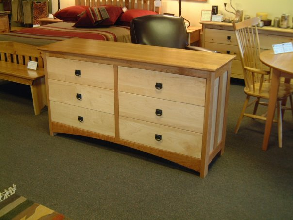 "Cherry & Maple 6-Drawer ""Prairie"" Dresser"