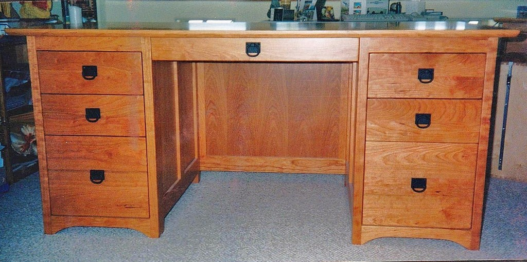 "Cherry ""Prairie"" Partners Desk"