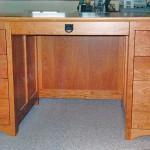Solid Cherry Pedestal Desk