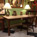 "Solid Walnut and Maple ""Flatiron"" Desk"