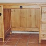 Solid Pine Pedestal Desk