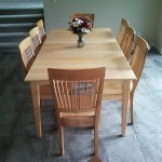 Solid Maple Prairie Dining Table