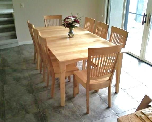 "Solid Maple ""Prairie"" Table with Leaf"