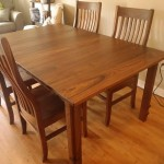 """Solid Walnut """"Mission"""" Dining Table with Custom Leg"""