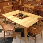 "Solid Maple Boat-shaped ""Prairie"" Dining Table"