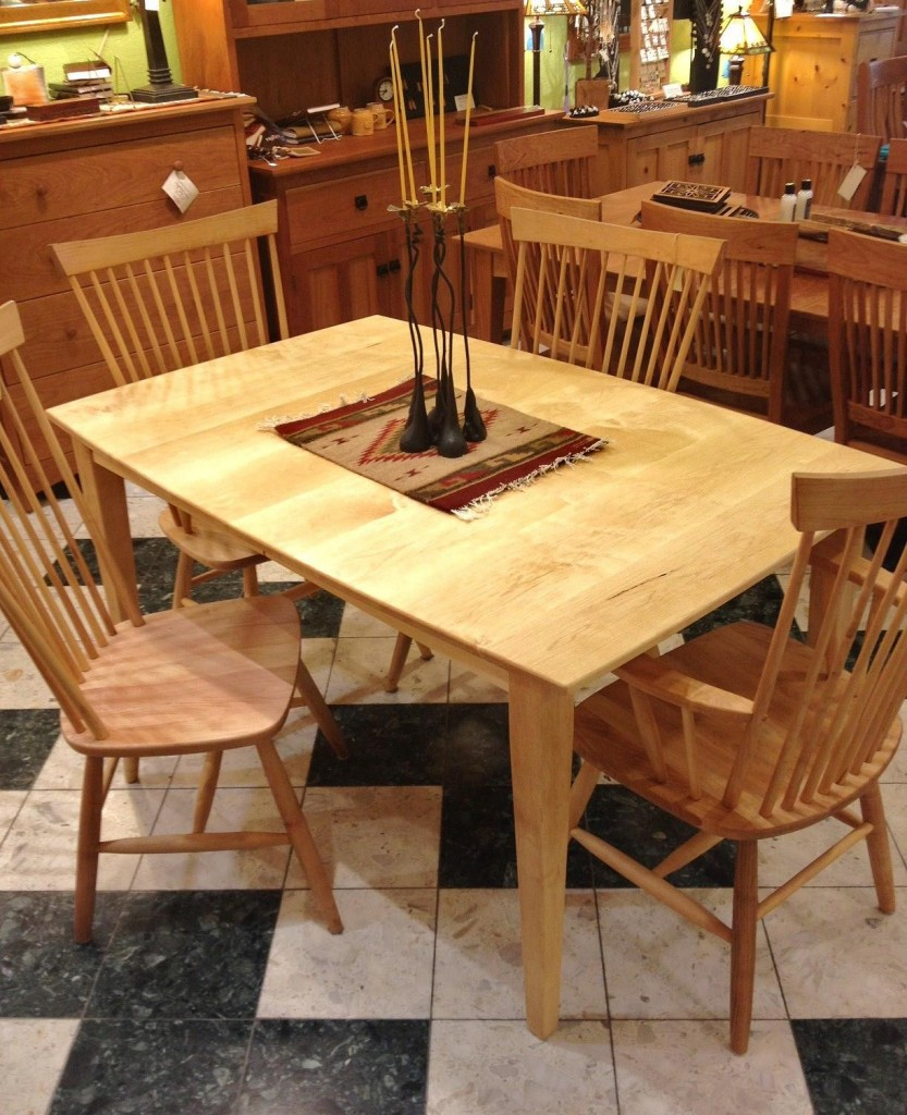 Maple Shaker Table With Boat Shape Top Boulder