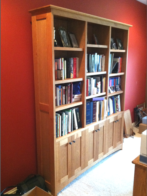 "Cherry ""Prairie"" Bookcase with Doors"