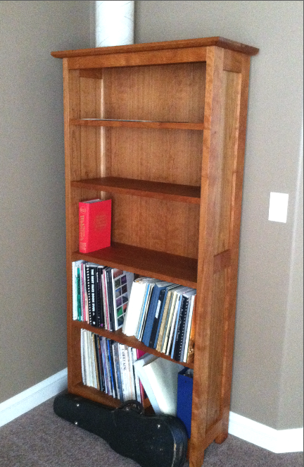 "Cherry ""Prairie"" Bookcase"