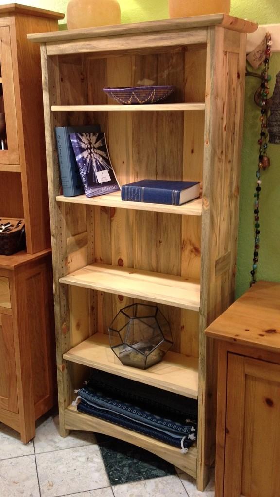 "Beetlekill Pine ""Prairie"" Bookcase"