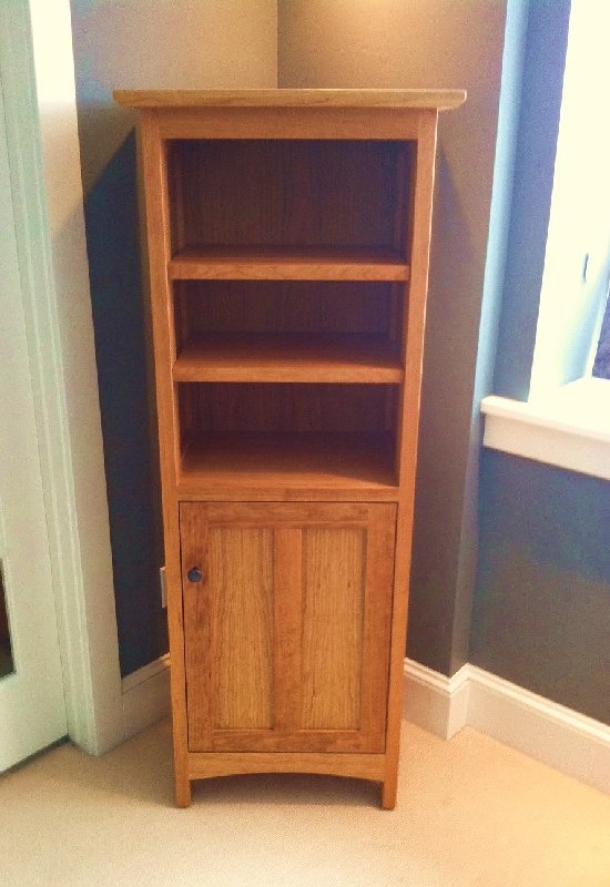"Cherry ""Prairie"" Bookcase with Door"