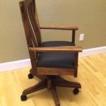 "Solid Black Walnut ""Craftsman"" Desk Chair"