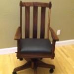 "Solid Walnut ""Craftsman"" Desk Chair"
