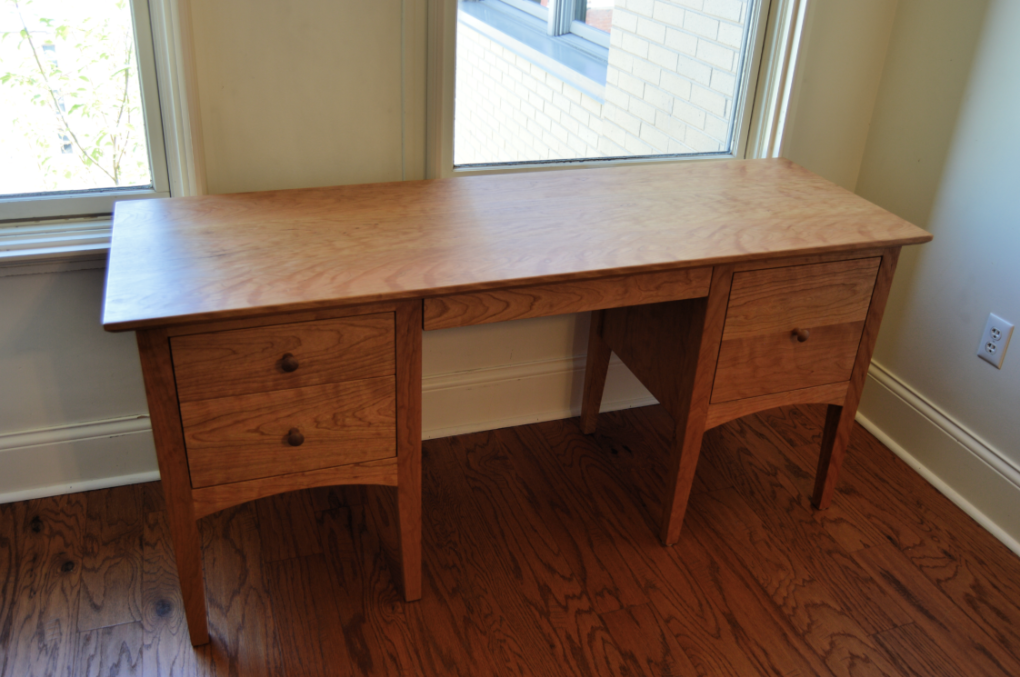"Cherry ""Alcott"" Desk with File Drawer"