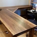 LiveEdge Black Walnut L-Shape Desk