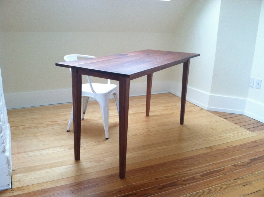 """Solid Walnut """"Shaker"""" Desk"""