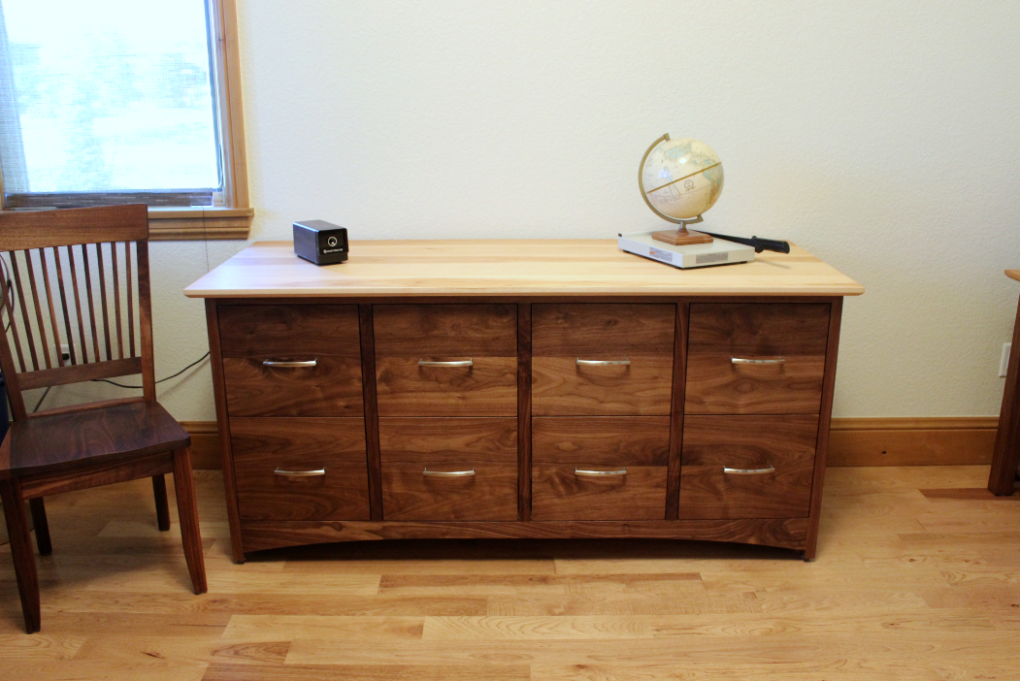 "Walnut & Hickory ""Prairie"" 8-Drawer File Cabinet"