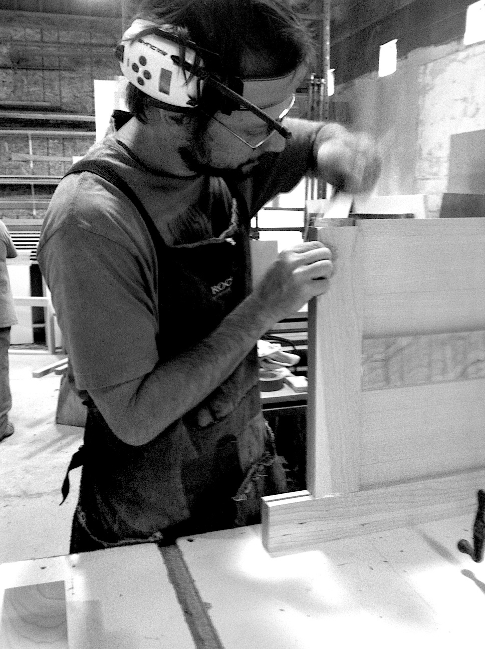Jeff, joining a frame-and-panel cabinet