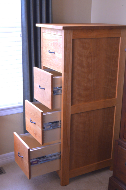 "Cherry ""Prairie"" 4-Drawer Tall File Cabinet"
