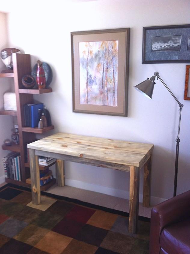 "Solid Beetlekill ""Flatiron"" Desk"
