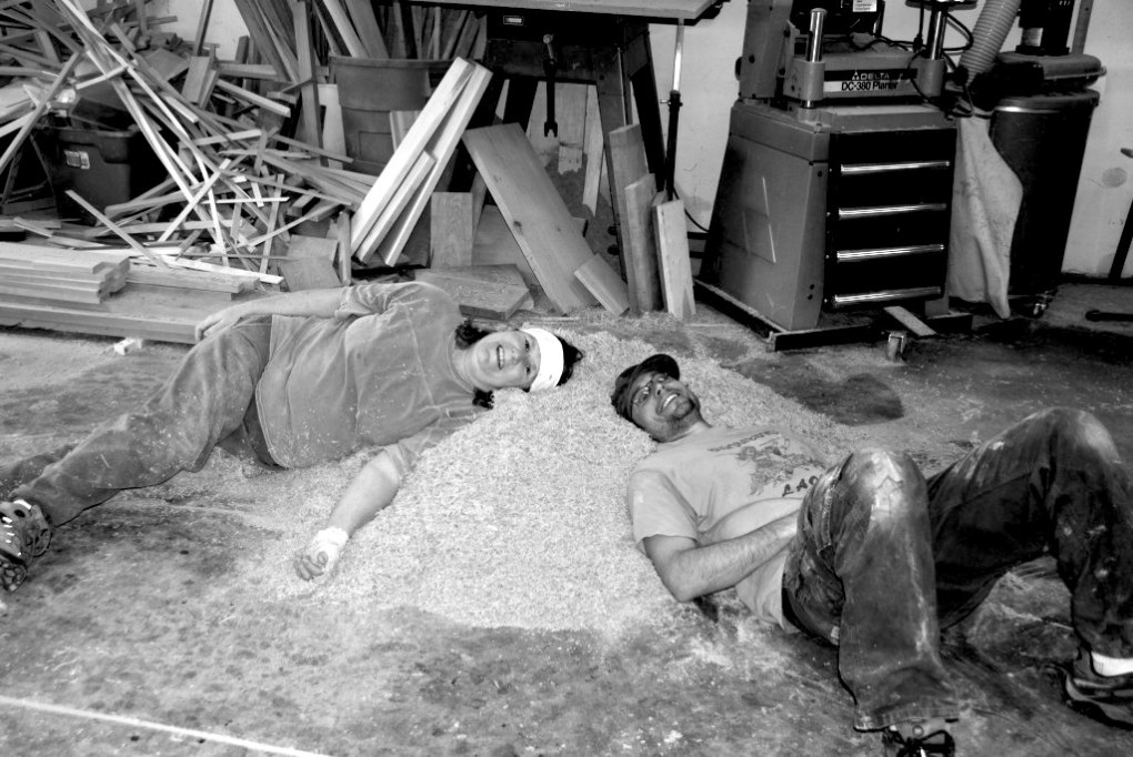 Robin & Jeff enjoying a sawdust pillow