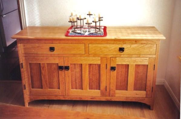 "Cherry ""Prairie"" 3-Door Sideboard"