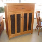 "Custom Solid Cherry ""Prairie"" Media Console"