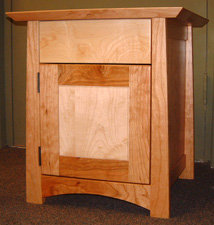 "Custom Cherry ""OneWorld"" Nightstand"