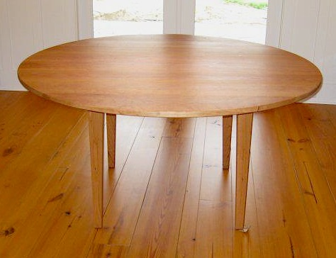 "Solid Cherry ""Prairie"" Round Table with Straight Apron"