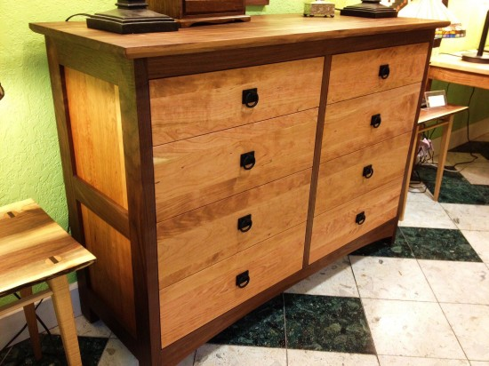 "Walnut & Cherry ""Prairie"" 8-Drawer Dresser"