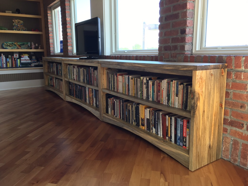 "Solid Beetlekill ""Flatiron"" Bookcase Set"