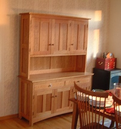 "Cherry ""Prairie"" Three-Door Hutch"
