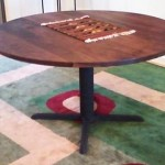 Custom Solid Walnut Round Dining Table