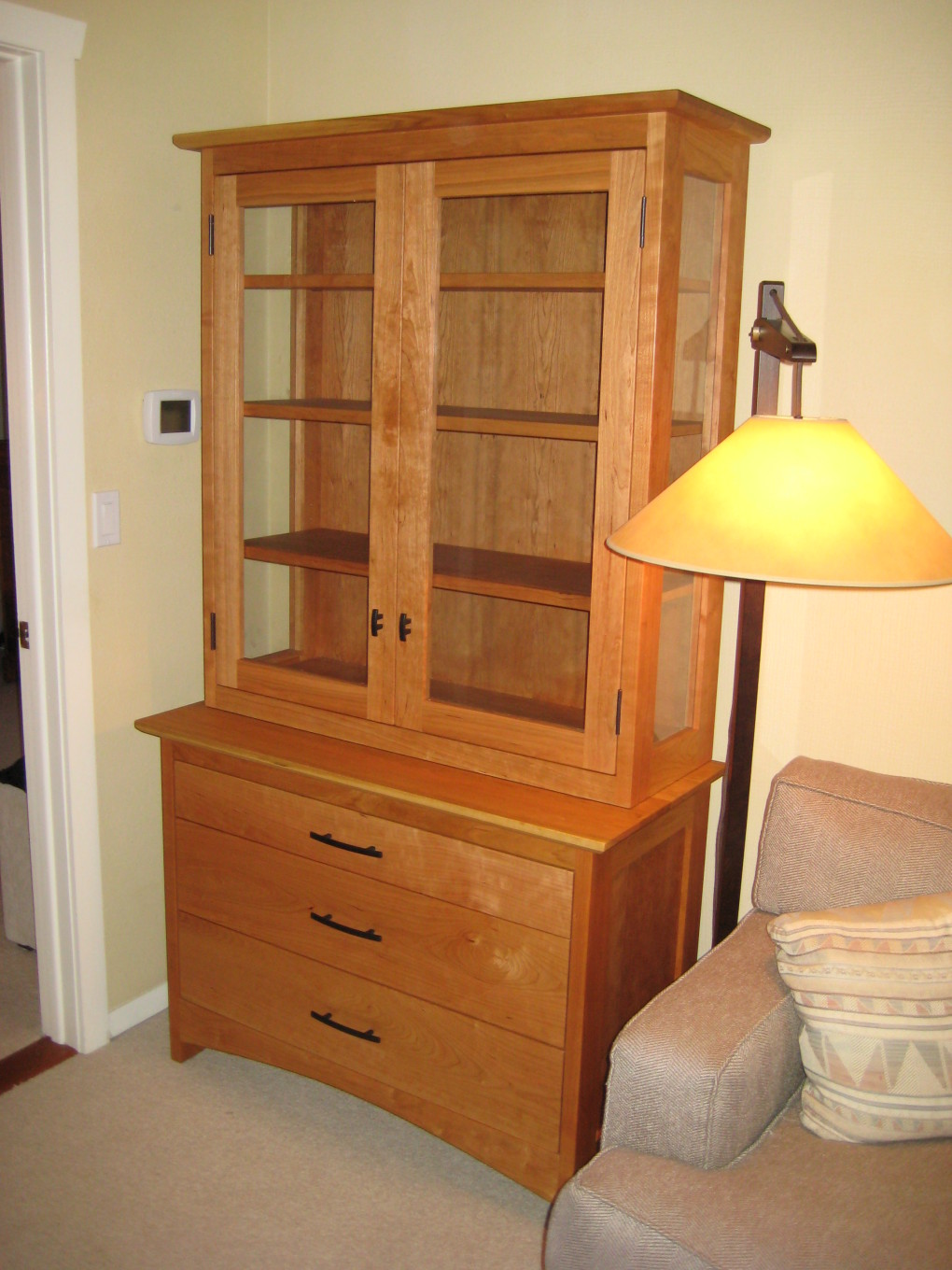 "Cherry ""Prairie"" Display Hutch"