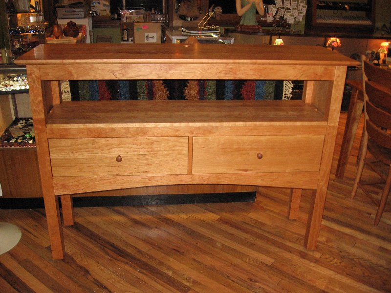 "Custom Cherry ""Prairie"" Buffet Table"