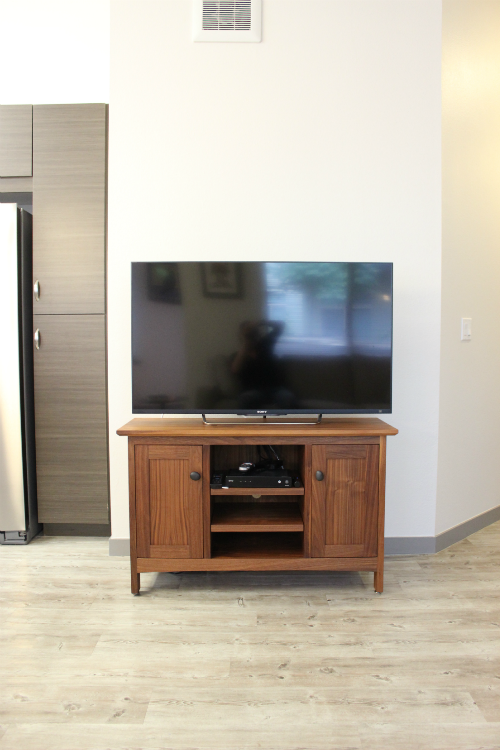 "Walnut ""Mission"" Media Cabinet"
