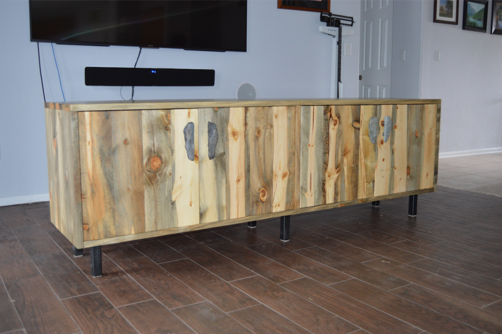 "Solid Beetlekill ""Flatiron"" Media Console with Doors"