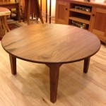 "Solid Walnut ""Prairie"" Coffee Table with Turquoise Inlay"