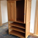 "Solid Cherry ""Prairie"" Media Cabinet with Pocket Doors"