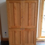 """Solid Cherry """"Prairie"""" Media Cabinet with Pocket Doors"""