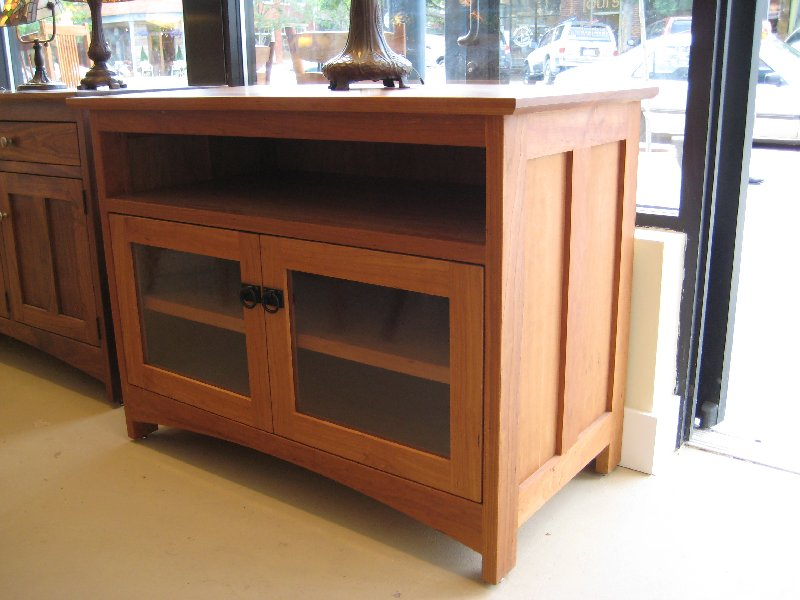 "Custom Cherry ""Prairie"" Two-Door Sideboard with Open Shelf"