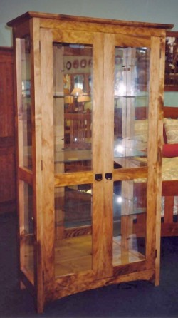 "Knotty Pine ""Prairie"" Display Cabinet"