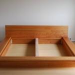 Solid Cherry Low Modern Queen Platform Bed