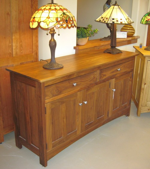 "Walnut ""Prairie"" 3-Door Sideboard"