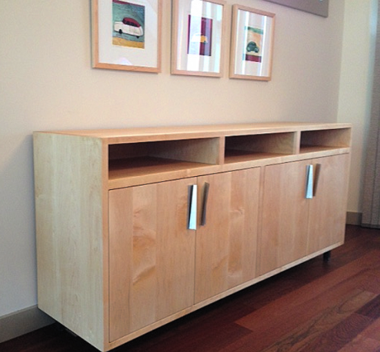 "Maple ""Flatiron"" 4-Door Sideboard"