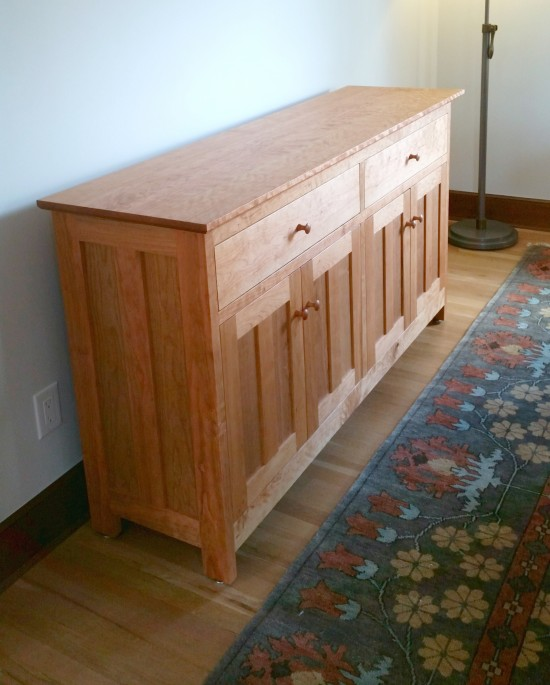 "Cherry ""Prairie"" 4-Door Sideboard"