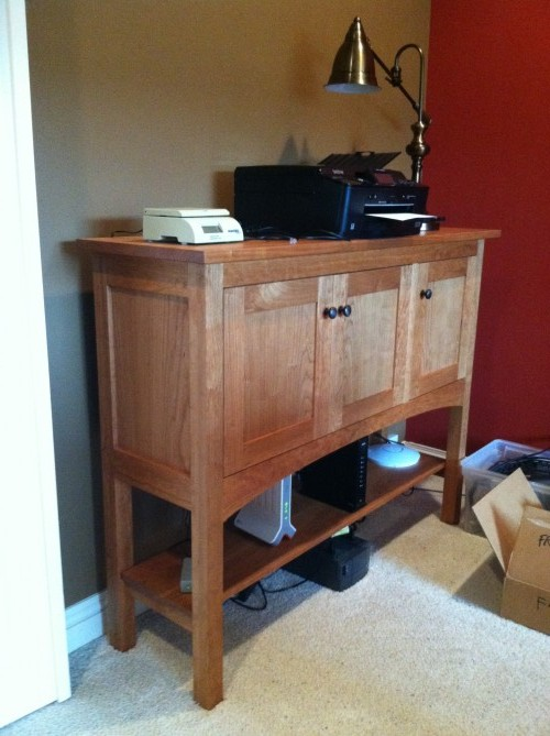"Custom Cherry ""Prairie"" 3-Door Sideboard Console"