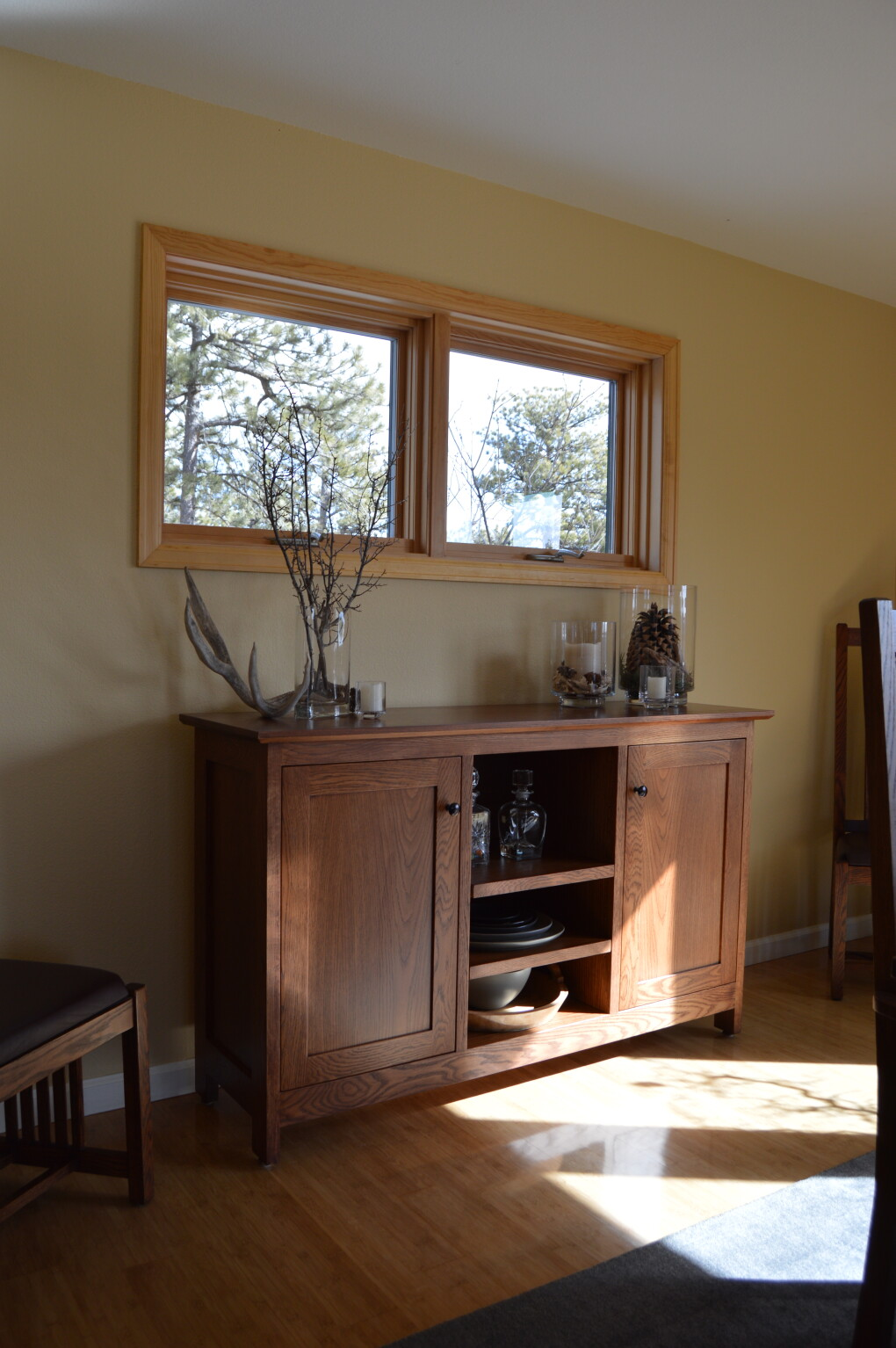 "White Oak ""Prairie"" Sideboard with Stain"