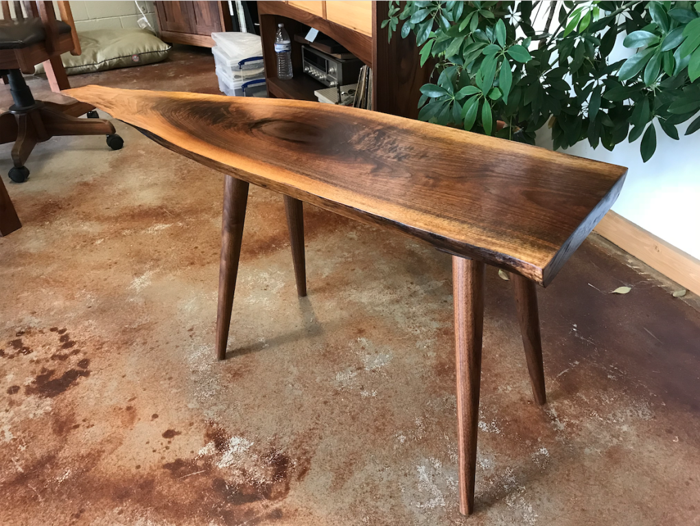 George Nakashima's Walnut Slab Console Table