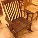 Solid Walnut Amish Rocker (Luxe Size)